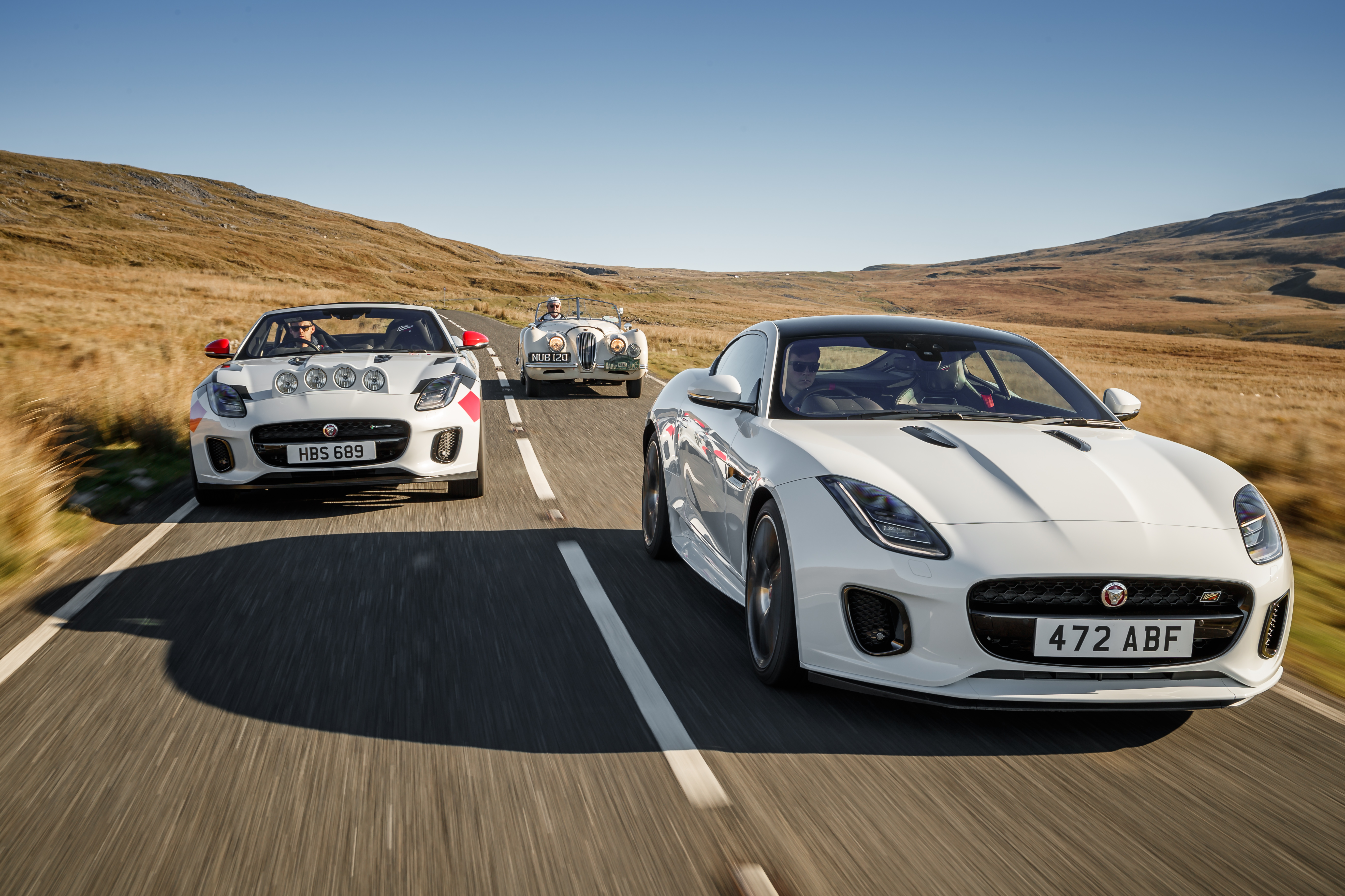 Jaguar F Type Rally Cars Celebrate 70 Years Of Sports Car Heritage