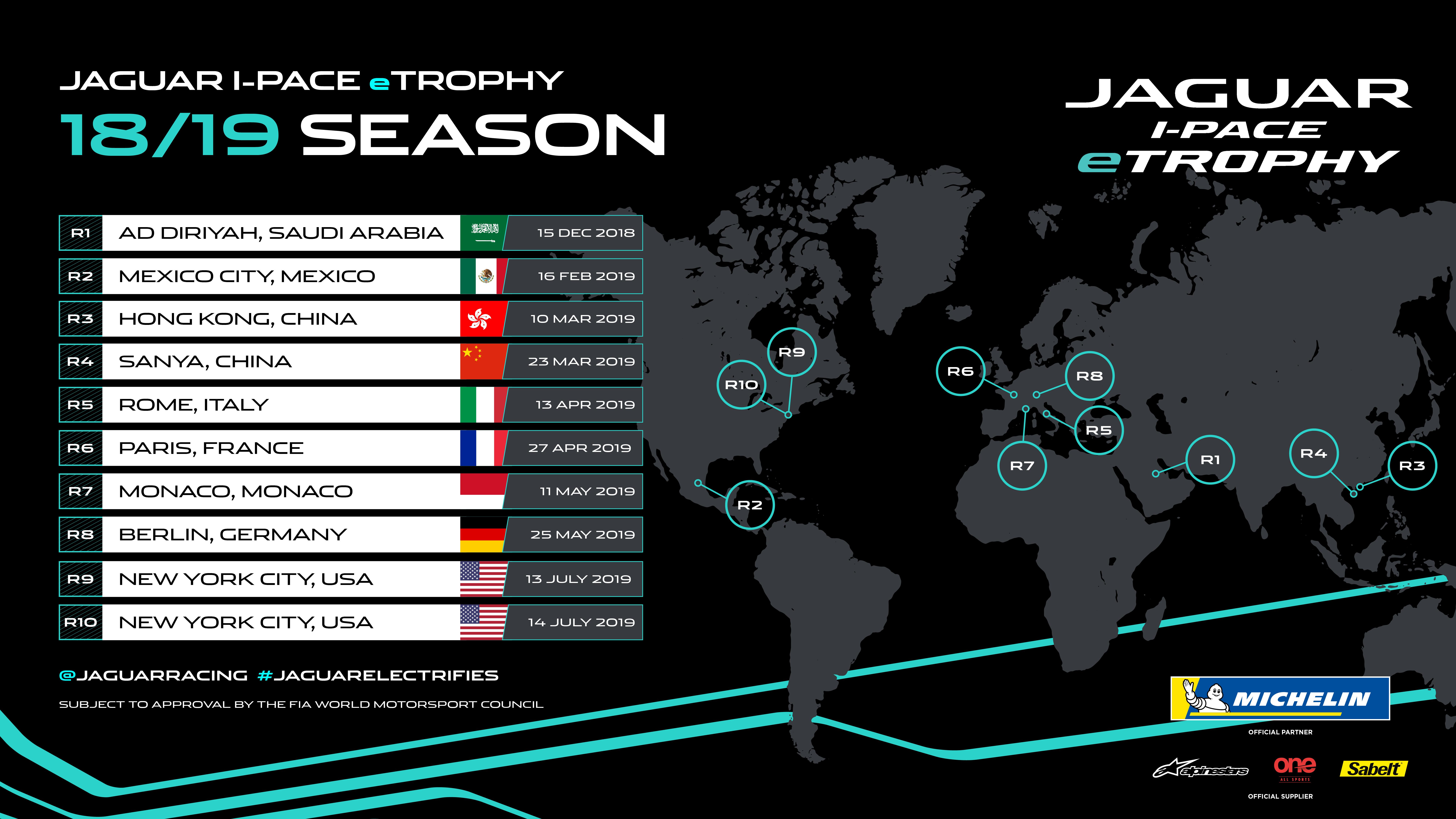 DEBUT JAGUAR I-PACE eTROPHY CALENDAR ANNOUNCED | Jaguar Formula E