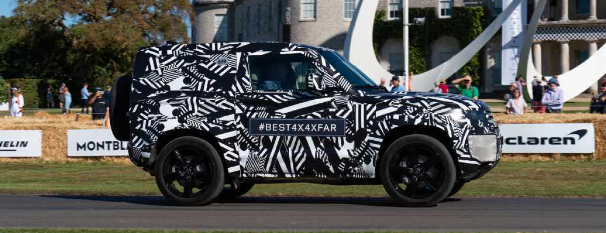 JAGUAR LAND ROVER WOWS GOODWOOD CROWD WITH PROTOTYPE LAND ROVER DEFENDER