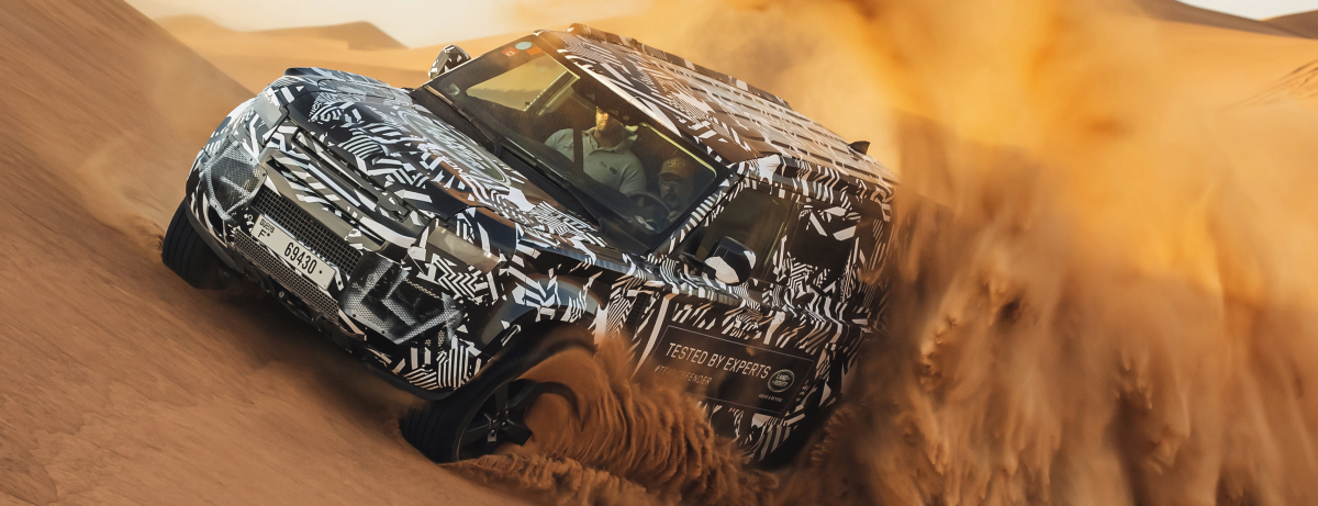 RED CROSS EXPERTS PUSH NEW LAND ROVER DEFENDER PROTOTYPE TO THE LIMIT