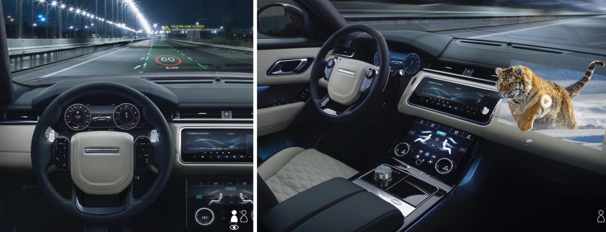 Mehr Sicherheit im Strassenverkehr durch zukünftige  Jaguar Land Rover 3D-Head-up-Displays
