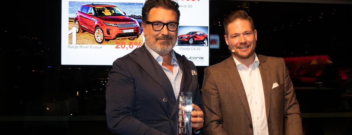 """Neuer Range Rover Evoque gewinnt Leserwahl  """"autonis – Beste Design-Neuheit 2019"""""""