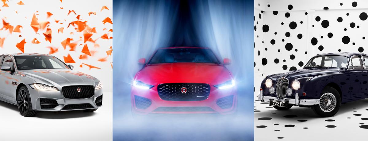 """""""Rooms by Rankin"""" – der britische Porträt- und Modefotograf rückt drei ikonische Jaguar Limousinen in spannendes Studiolicht"""