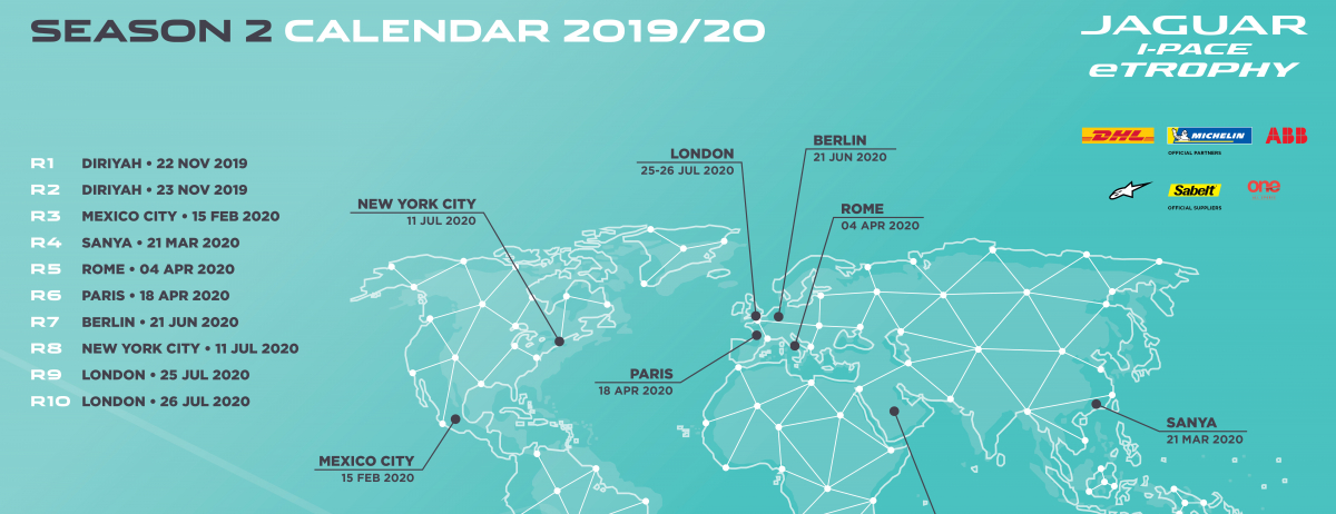 Season 2 Jaguar I-PACE eTROPHY Calendar