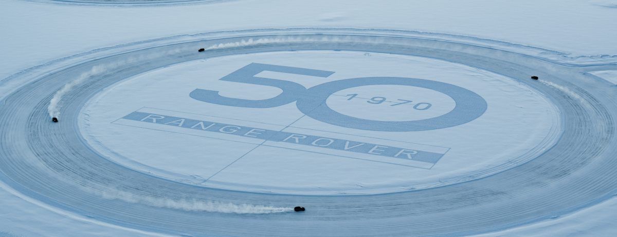 50 YEARS OF RANGE ROVER: LAND ROVER CELEBRATES GOLDEN JUBILEE FOR LUXURY SUV WITH UNIQUE SNOW ART