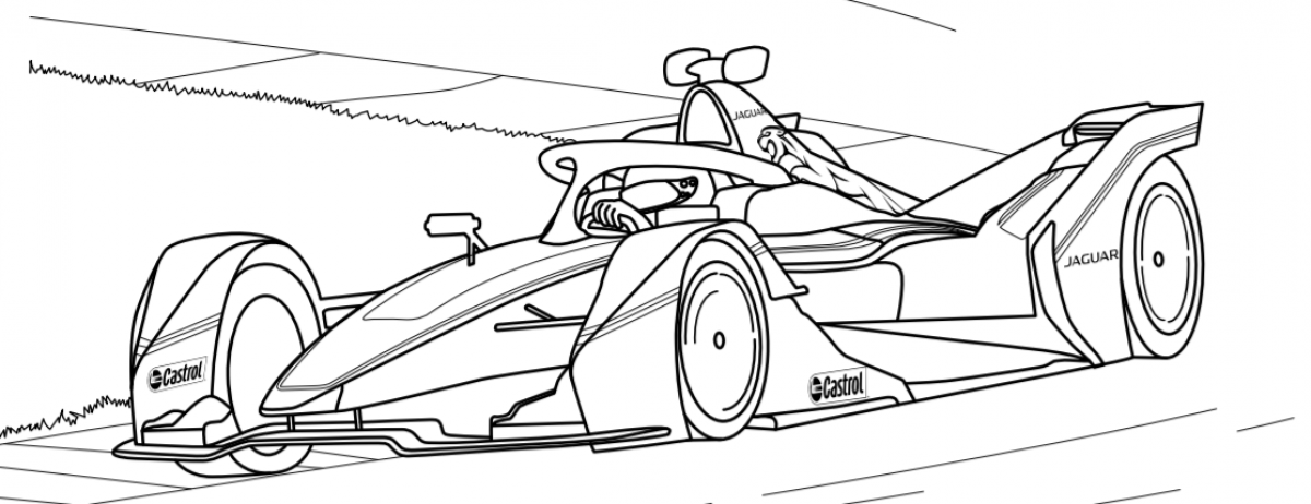 Colour in Panasonic Jaguar Racing I-TYPE 4