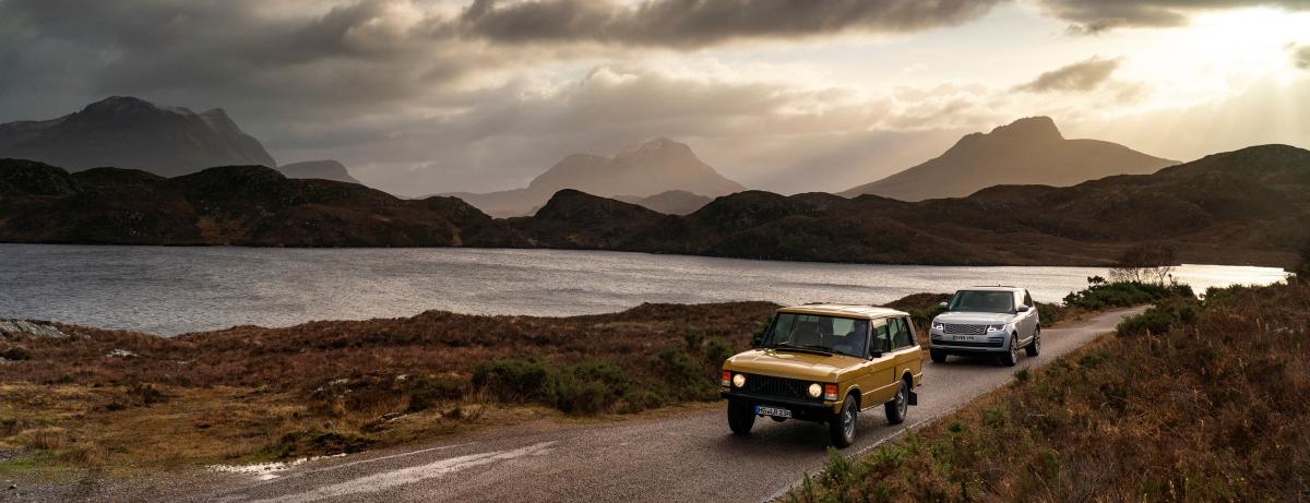 Range Rover Grand Tour: Die imposante Kulisse Schottlands bildet den Auftakt zum 50-jährigen Jubiläum