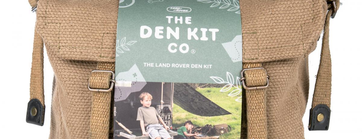 Land Rover bietet gemeinsam mit The Den Kit Company ein  Mini-Camping-Paket für den Kurzaufenthalt in der Natur