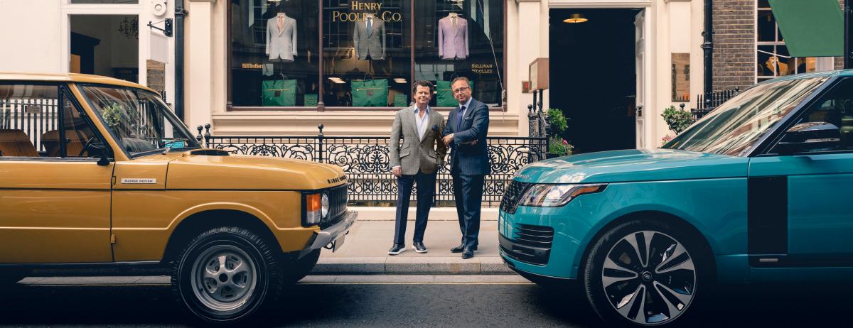 Land Rover und Edelschneider Henry Poole kreieren einzigartigen Stoff zum goldenen Range Rover Jubiläum