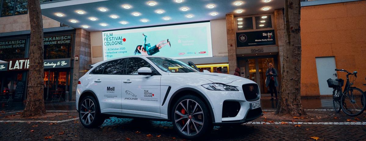 Jaguar ist mit Autohaus Moll Sponsor des 30. Film Festivals Cologne