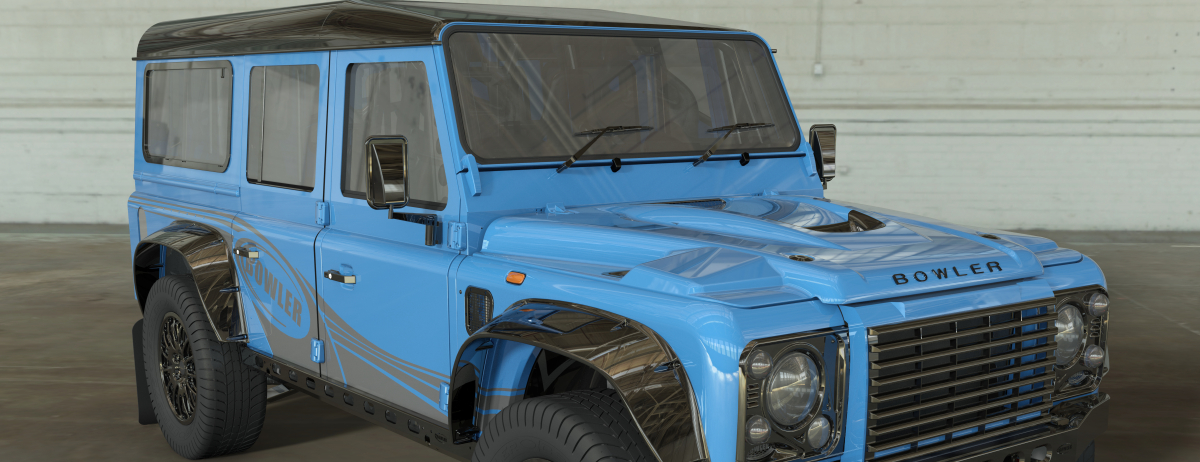THE ORIGINAL LAND ROVER DEFENDER SILHOUETTE LIVES ON: LAND ROVER GRANTS BOWLER A LICENCE TO USE ICONIC SHAPE