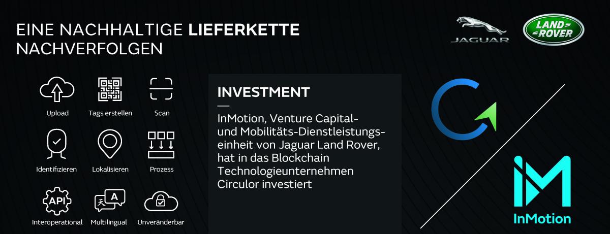 Die Jaguar Land Rover Tochtergesellschaft InMotion Ventures investiert in Circulor zur besseren Rückverfolgung nachhaltiger Lieferketten
