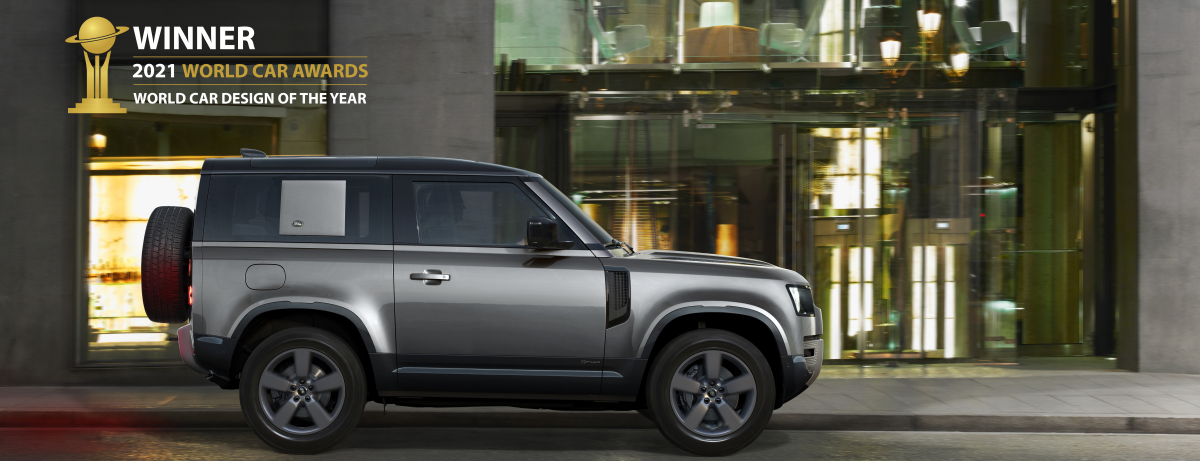NLAND ROVER DEFENDER CROWNED 2021 WORLD CAR DESIGN OF THE YEAR ew Defender