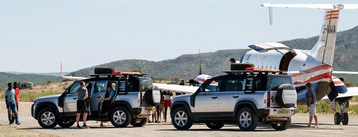 Land Rover Experience und Namibia Tourism Board organisieren Hilfen für Namibia