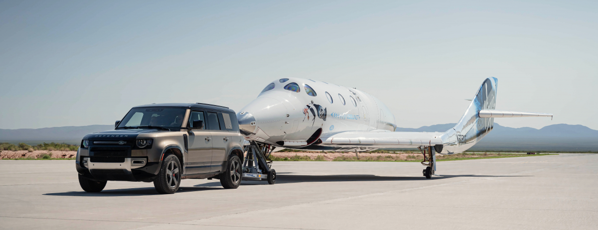 ABOVE AND BEYOND: LAND ROVER SUPPORTS VIRGIN GALACTIC'S FIRST FULLY CREWED SPACE FLIGHT