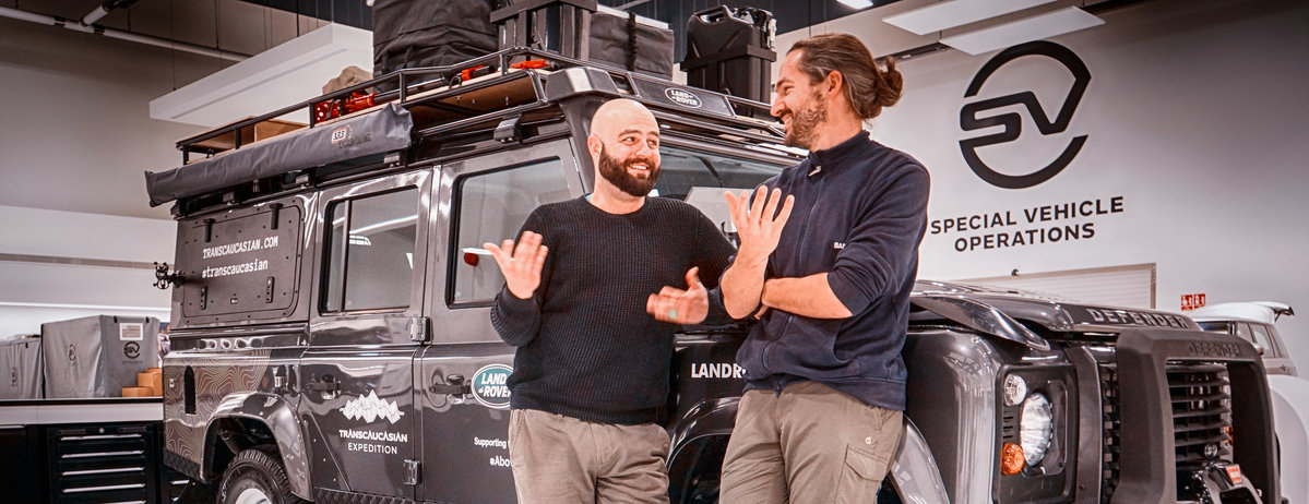 SIX MONTHS, TWO COUNTRIES, ONE MOUNTAIN RANGE:  Land Rover Defender at Heart of Transcaucasian Expedition