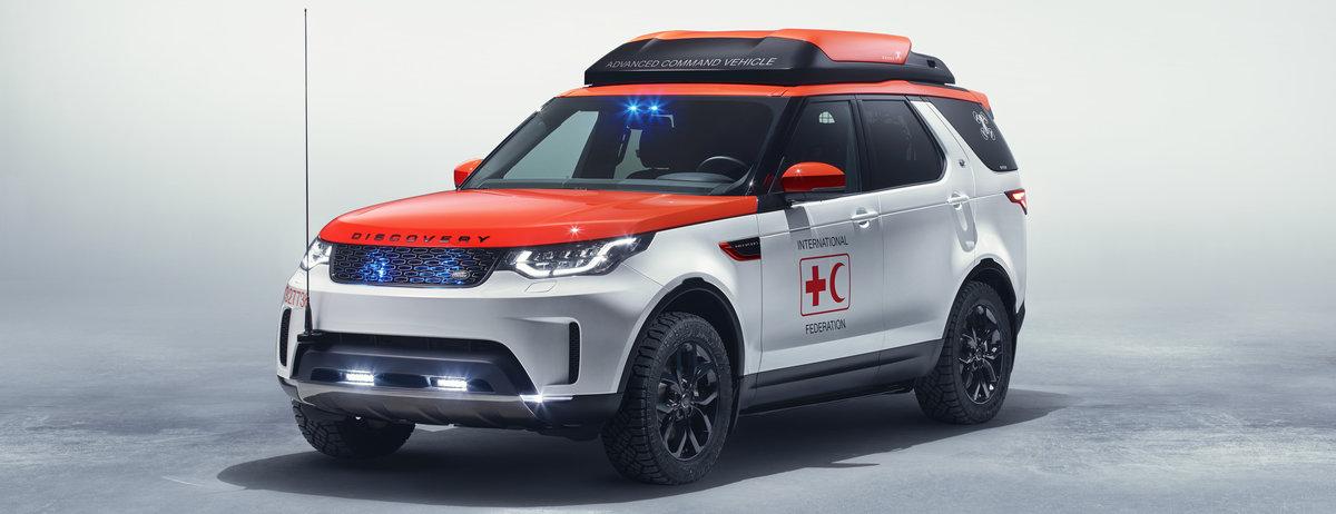 """""""Project Hero"""": Neuer Land Rover Discovery wird mit Drohnentechnologie zum Rotkreuz-Lebensretter"""