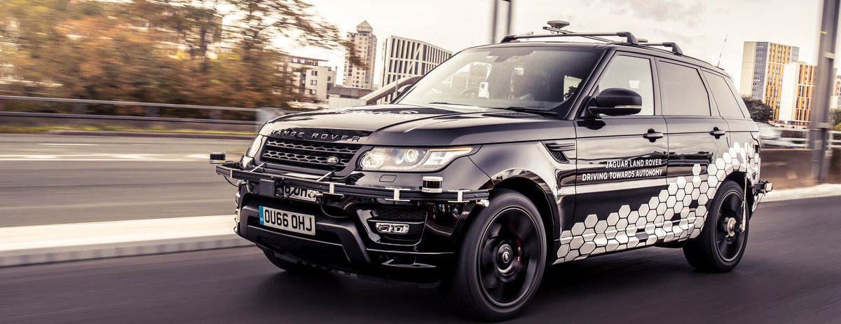 Self Driving Range Rover Runs Autonomous Rings Round Coventry