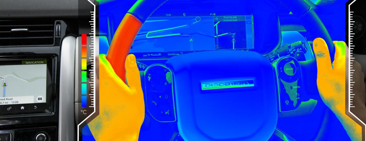 """Neues """"Sensorisches Lenkrad"""" von Jaguar Land Rover kommuniziert über thermische Reize mit dem Autofahrer"""