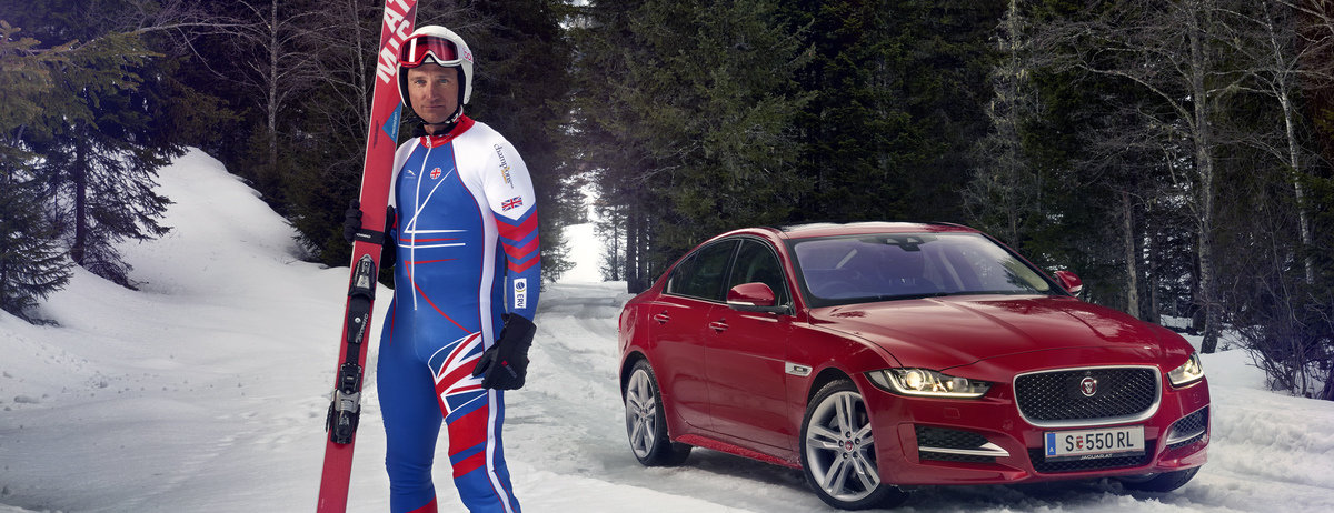 Jaguar Drives Olympic Skier Graham Bell To Become Fastest Man On Skis