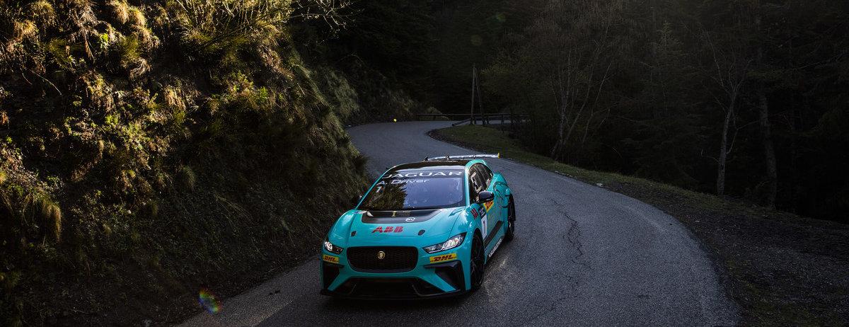 Jaguar I-PACE eTROPHY electrifys legendary Col de Turini