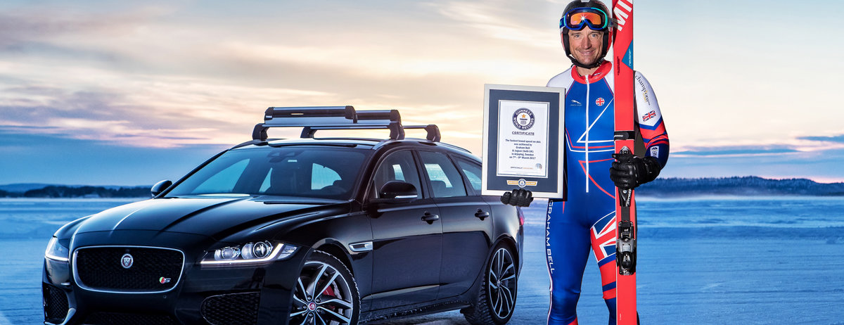 OLYMPIC SKIER AND JAGUAR BREAK ICE-COOL GUINNESS WORLD RECORDS TITLE