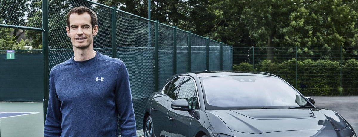 ANDY MURRAY GOES ELECTRIC WITH JAGUAR I-PACE ON WORLD ENVIRONMENT DAY