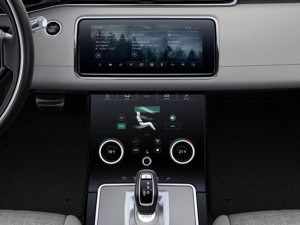 interior infotainment new range rover evoque