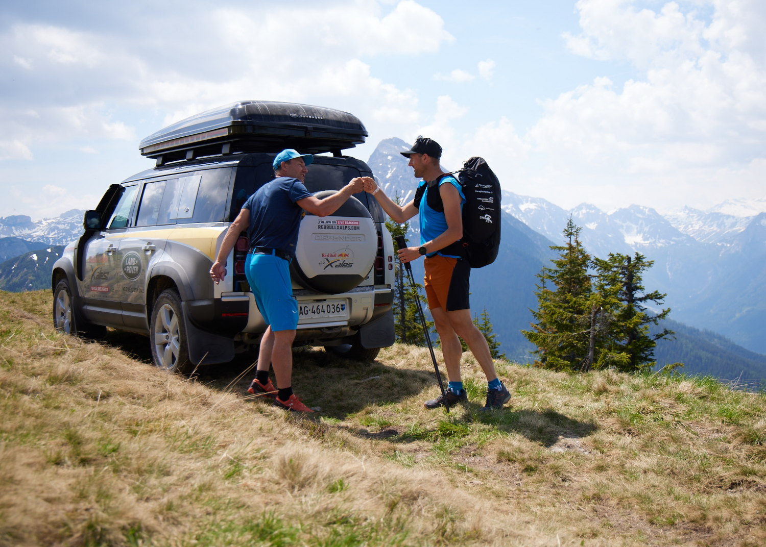 LAND ROVER DEFENDER SUPPORTS RED BULL X-ALPS CHAMPION MAURER