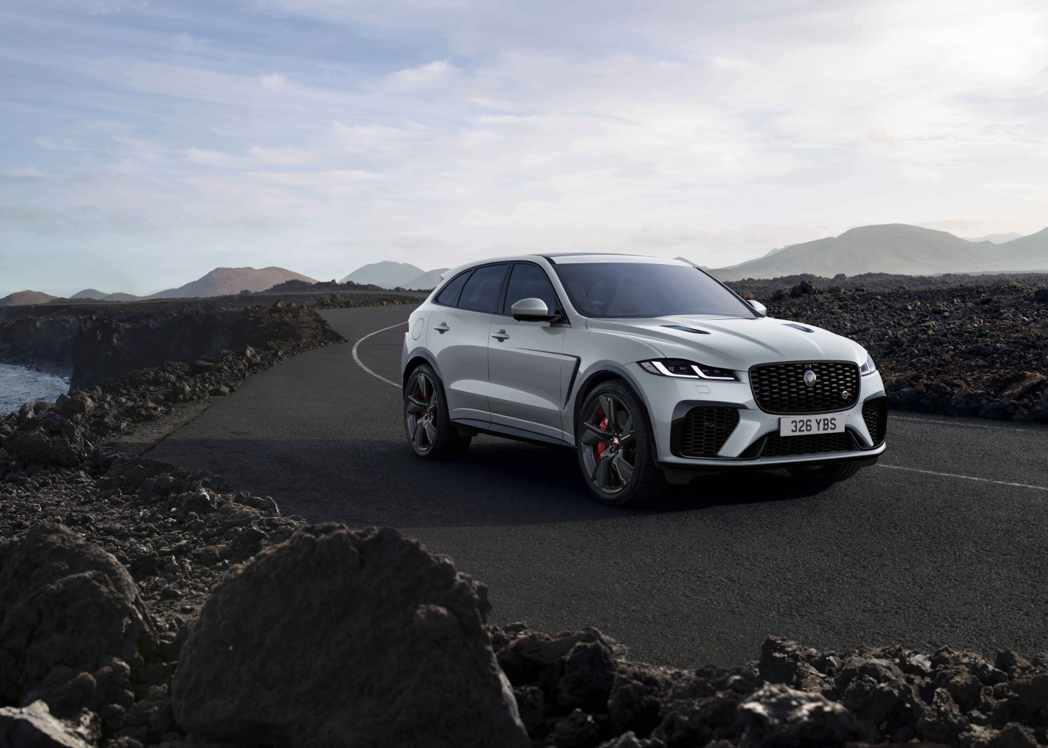 F-PACE SVR - Ionian Silver with new Black Pack