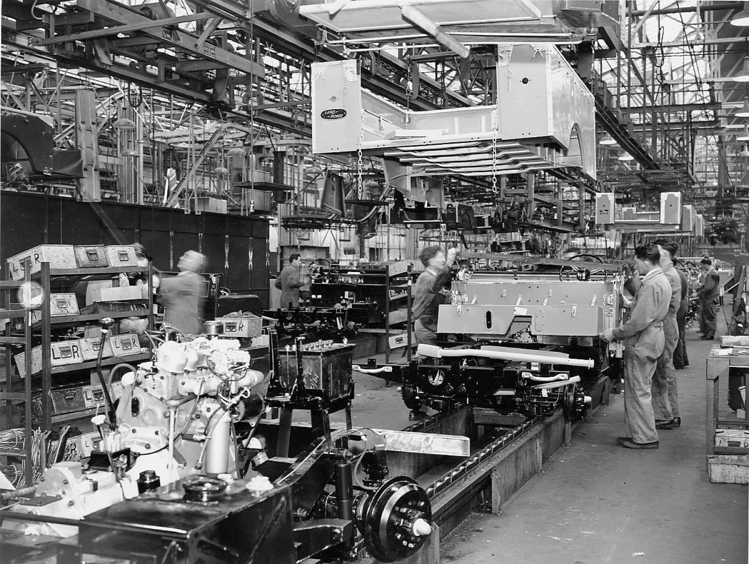 Series Land Rover Production - Solihull 1950s