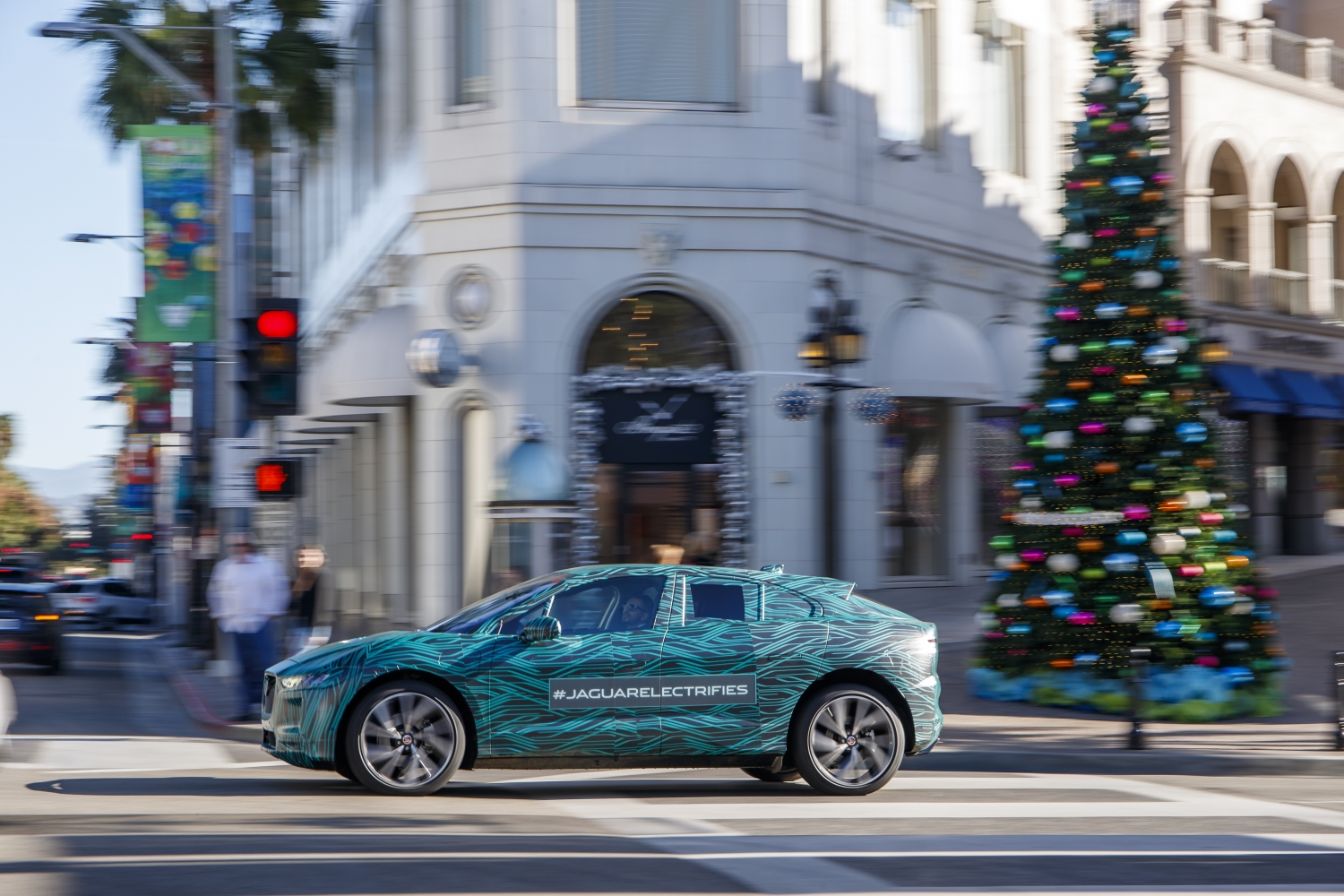 One year on from showing the I-PACE Concept at the LA Auto Show, Jaguar is back in town with a production prototype for final range and durability tests ahead of its official global reveal in 2018