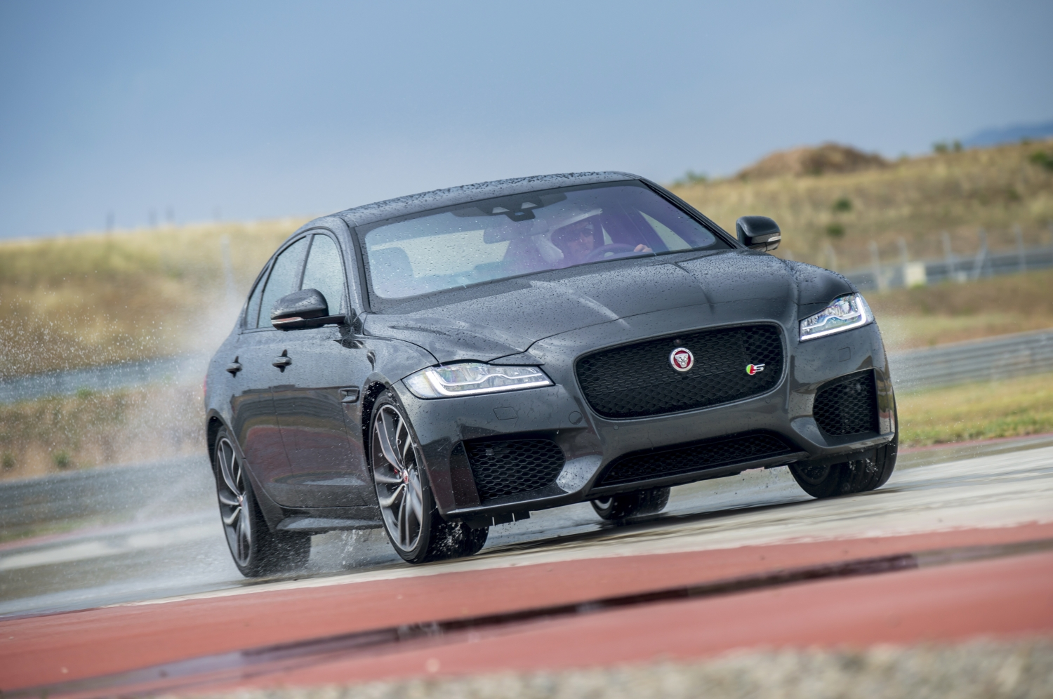 Jaguar XF global media drives in Navarra, Northern Spain