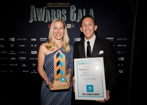 The Climate Group and the ABB FIA Formula E Championship presented the first Climate Champion Award to Panasonic Jaguar Racing