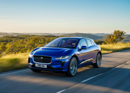 Recycled plastic material is tested on prototype production parts in the all-electric Jaguar I-PACE