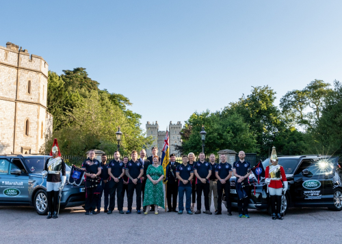 Land Rover supports Castle Trek for the rehabilitation of injured soldiers
