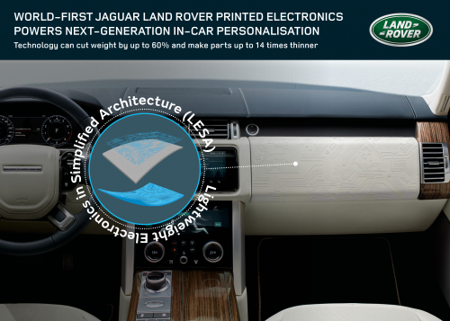 World-first Jaguar Land Rover research uses structural electronics for car cabins