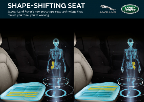 JAGUAR LAND ROVER'S NEW SHAPE-SHIFTING SEAT OF THE  FUTURE MAKES YOU THINK YOU'RE WALKING