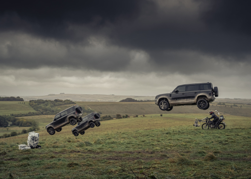 All New Defender 110 flies into action in latest James Bond film No Time To Die