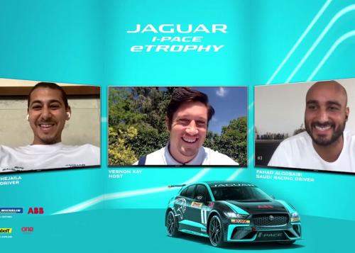JAGUAR I-PACE eTROPHY DRIVERS - SÉRGIO JIMENEZ, FAHAD ALGOSAIBI AND MASHHUR BAL HEJAILA JOIN RE:CHARGE @ HOME