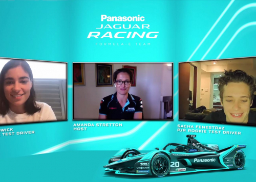 JAGUAR RACING ROOKIE TEST DRIVERS JAMIE CHADWICK AND SACHA FENESTRAZ JOIN RE:CHARGE @ HOME