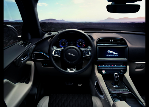 2019 Jaguar F-PACE SVR Interior Images - EUROPEAN MODEL SHOWN