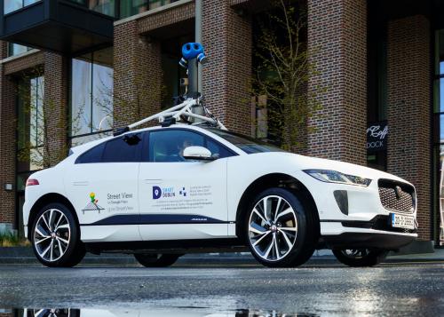 Jaguar Land Rover und Google messen die Luftqualität Dublins mit Hilfe des vollelektrischen I-PACE