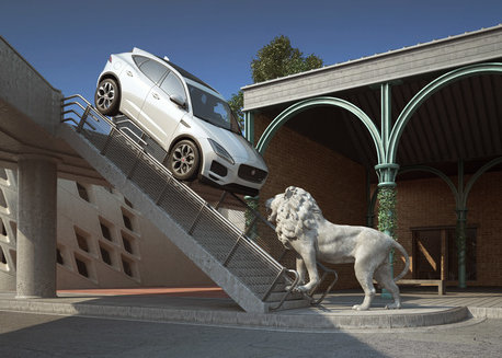 DIGITAL ARTIST'S SURREAL TWIST ON NEW JAGUAR E-PACE SUV